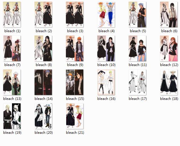 Hot Anime Bleach Characters Ulquiorra Cifer And Grimmjow Jaegerjaques Body PillowCase Burichi Ichigo Kurosaki Body Pillow Cover