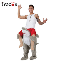 JYZCOS Ride on Shark Costume Ride on Me Cosplay Costume Halloween Carnival Purim Fancy Pants