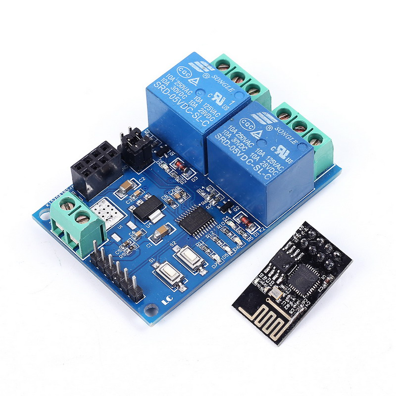 5 V módulo de relé WiFi esp8266 IOT App controlador 2 canal para Casas inteligentes automatización teléfono móvil Junta módulo wifi