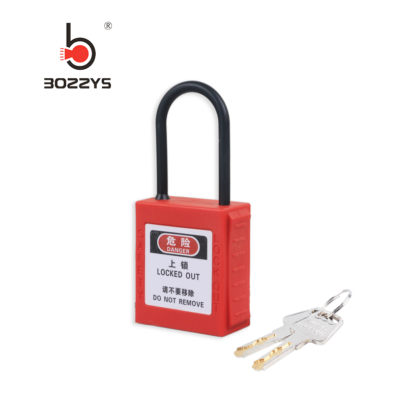 Engineering safety padlock nylon insulated lock beam 4*38MM fine beam energy isolation lock Customized master key BD-G71N Замок