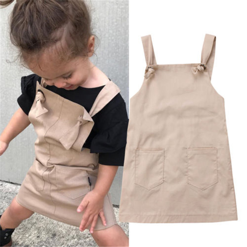 Fashion Baby Girl Summer Sundress Overall Dress Suspender Jumper Strap Jumpsuits