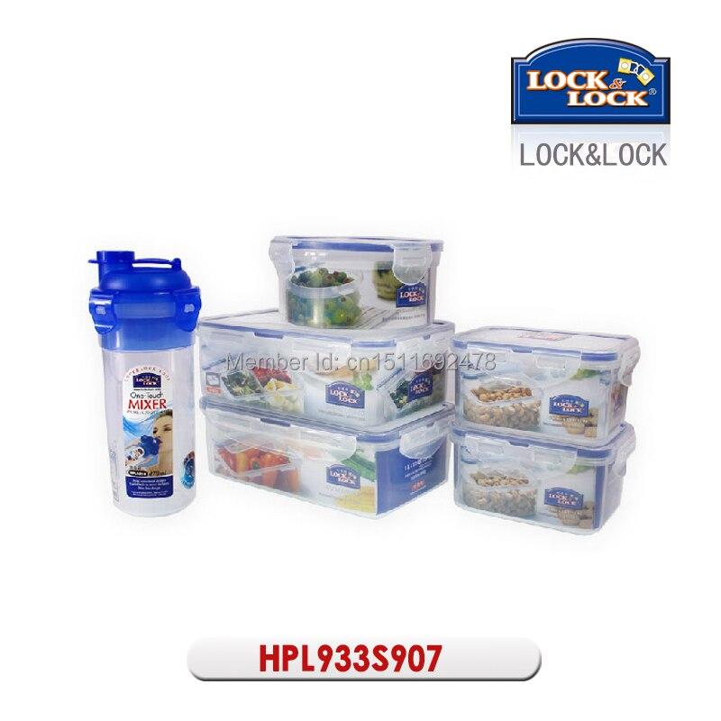LOCKLOCK 5 piece Plastic Vacuum Waterproof Food Storage Containers