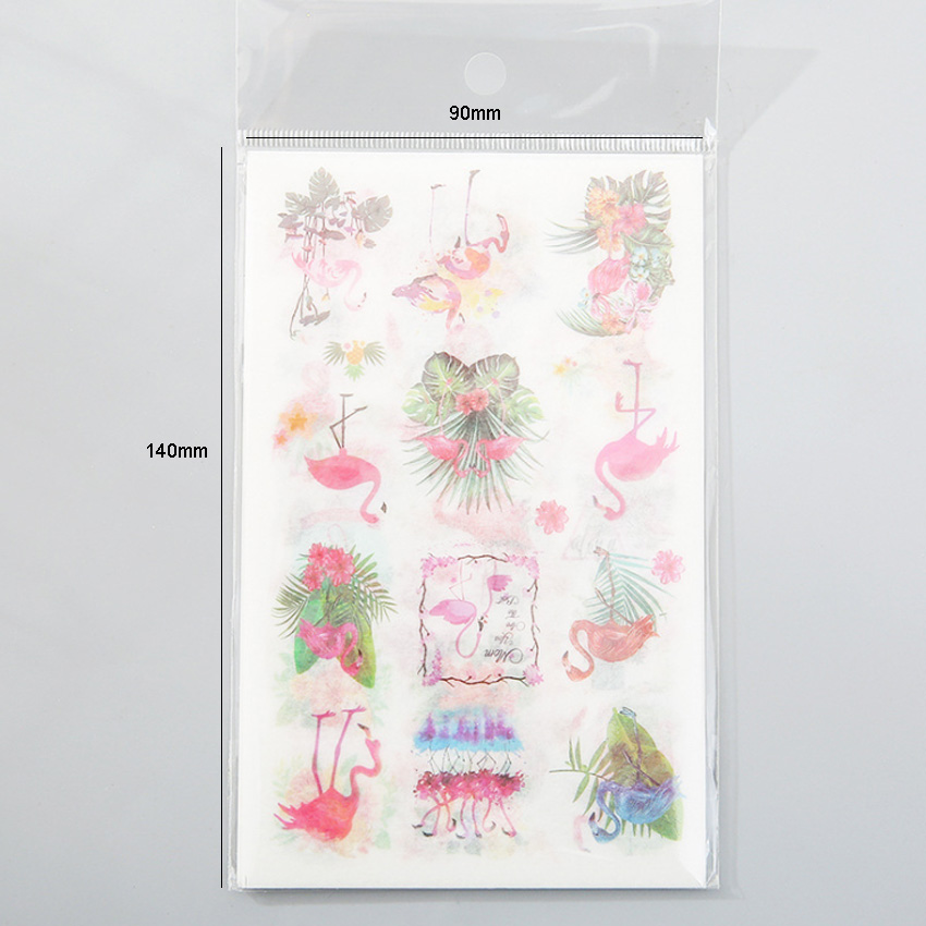 10packs lot Fresh Flamingo Creative Album For Room Decoration Handbook Daily DIY Sticker in Stationery Stickers from Office School Supplies