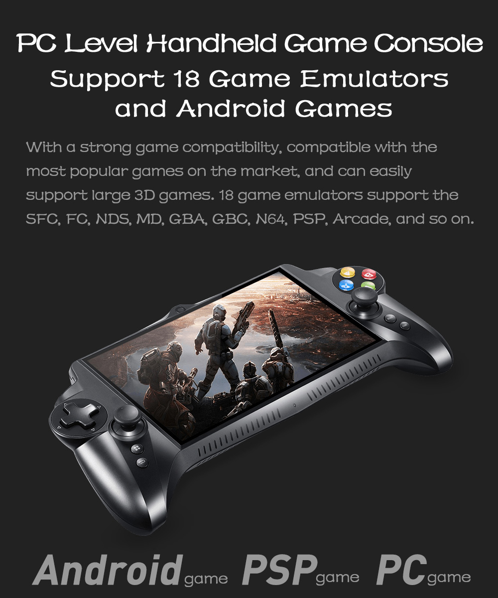 1080p HD 64GB Quad Core 7 inch Handheld Game 4GB RAM Android Gaming Console