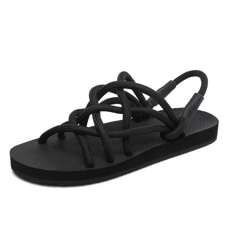 2018 New Fashion Breathable Men Sandals Elastic bar Summer Beach Shoes Men Slippers Causal Shoes Plus Size 35-43