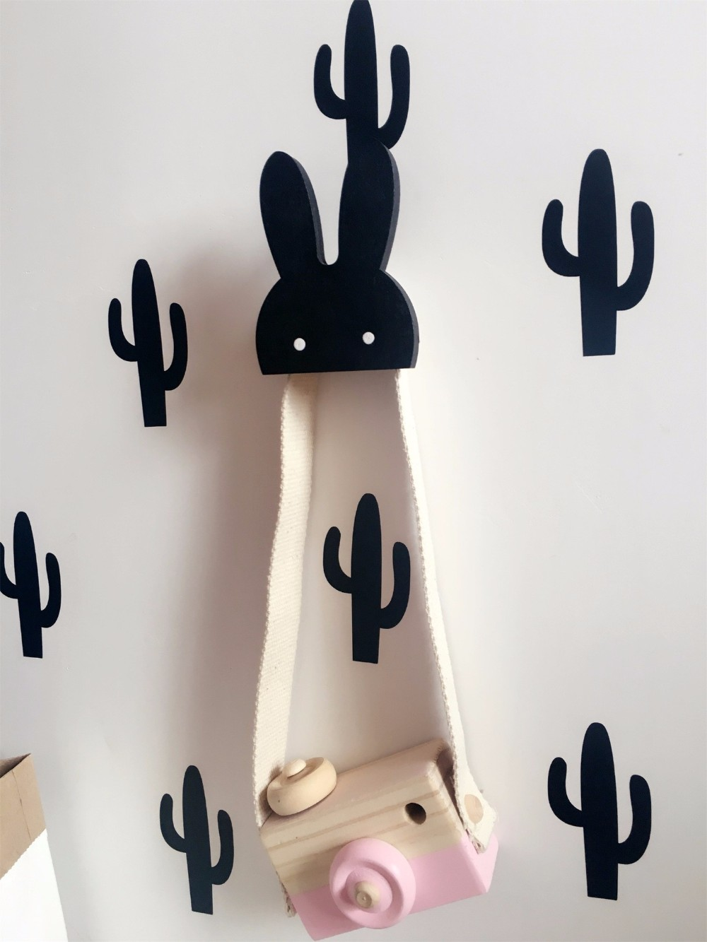 Aliexpress.com : Buy Cute bunny wooden clothes hook for kids room ...