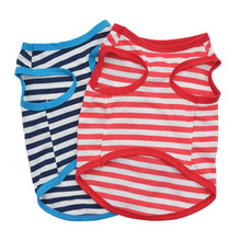Pet Stripe Vest Dog Ventilation T-Shirt
