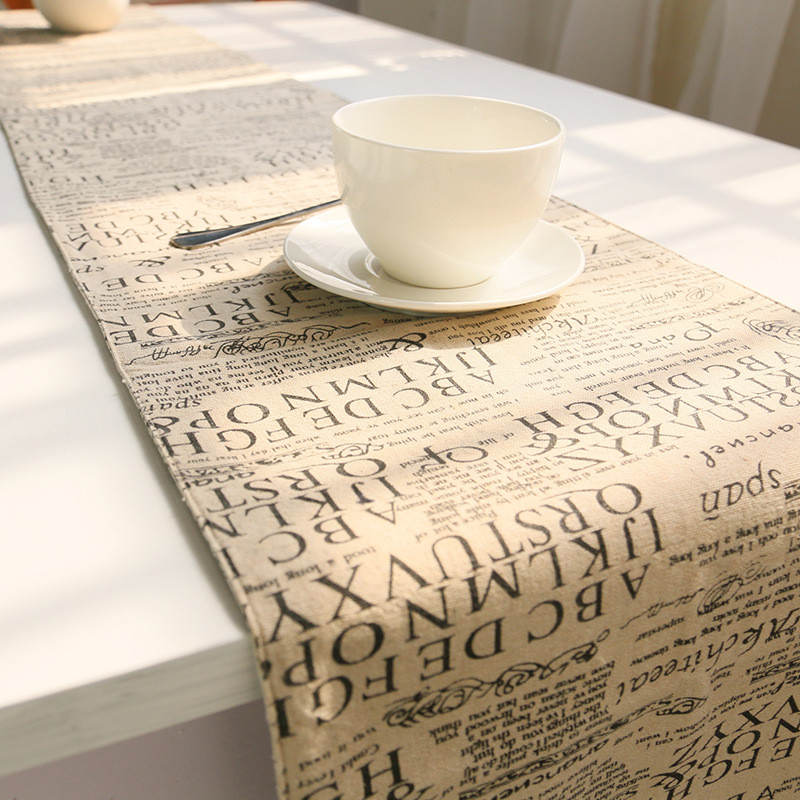 Coffee Table Runner Modern Letter Home Decoration