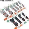 10 set Kit Deutsch DT 2 3 4 6 8 12 Pin Wasserdicht Electrical Wire Anschluss stecker Kit 22-16AWG Motor/getriebe wasserdichte elektrische