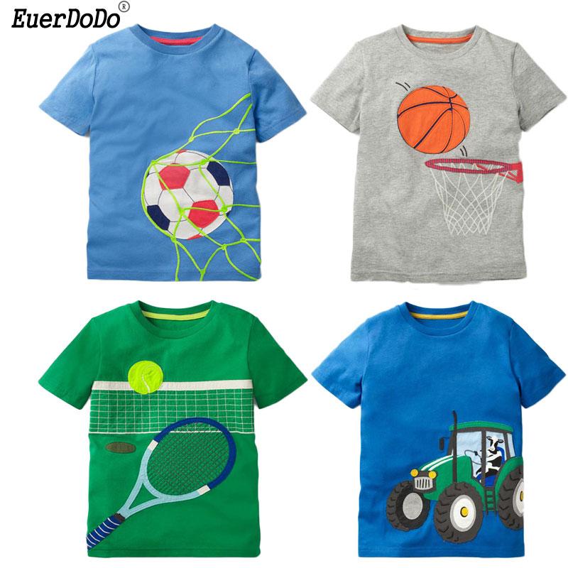 Summer Sport T Shirts For Boys Sweatshirts Football Car ...