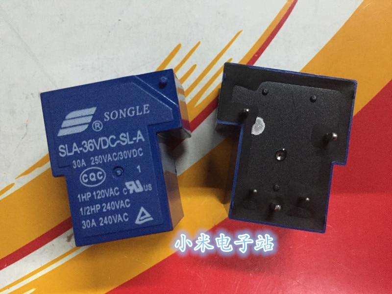 1pcs New Songle Relay SLA-36VDC-SL-A 30A 250VAC