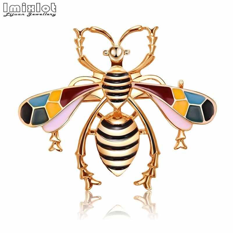 Imixlot น่ารักแมลง Fly Bee Brooches สำหรับหญิงเสื้อผ้าอุปกรณ์เสริมต่างๆสไตล์เข็มกลัดเครื่องประดับวันเกิดของขวัญ