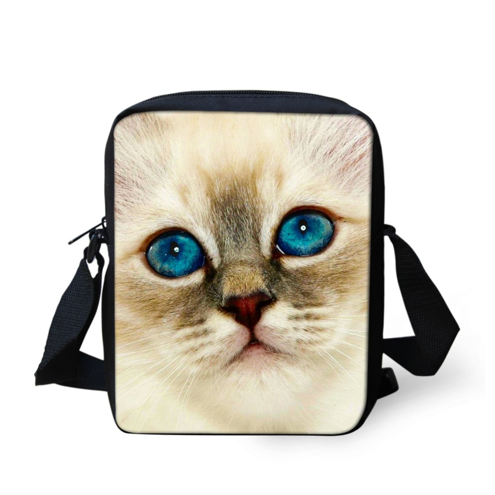 FORUDESIGNS Brand Animal Denim Cat Messenger Bag for Women Mini Lady Girls Crossbody Bag Casual Small Teen Kids Messenger Bag