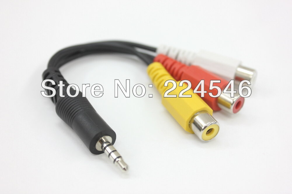 ORIGINAL/ORIGINAL <font><b>ADAPTER</b></font> KABEL <font><b>AV</b></font> <font><b>Adapter</b></font> Kabel-Stereo & Composite Video für <font><b>SAMSUNG</b></font> LED TV <font><b>AV</b></font> für Wii für XBOX360 für PS3 image