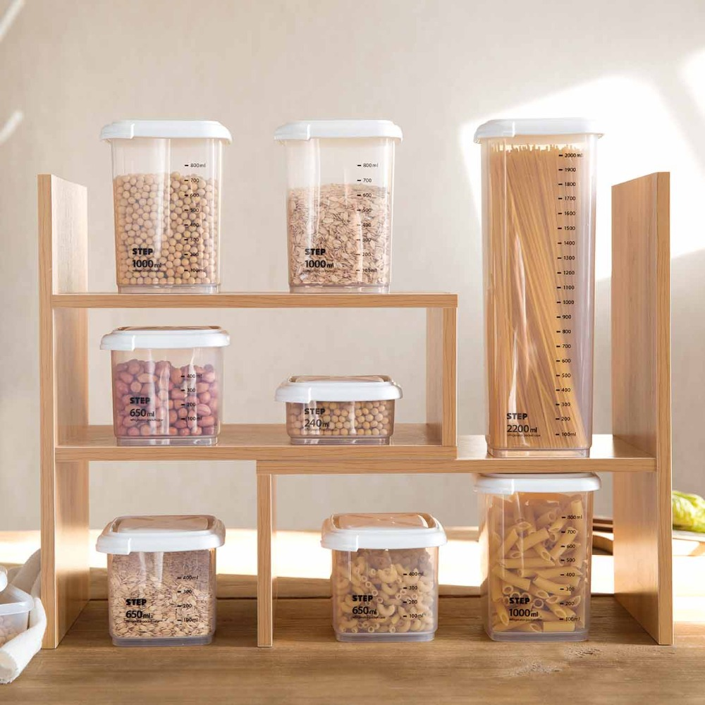 Kitchen Diorama Made Of Cereal Box: 1PCS Transparent Kitchen Storage Organizer Candy Beans
