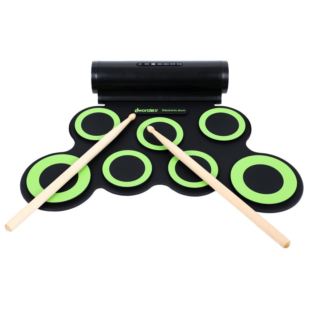 2018 new Dual speakers super bass 7 tritone standard drum pads Support DTX electronic drum game Roll Up Electronic Drum басовый пэд millenium e drum bass drum pad