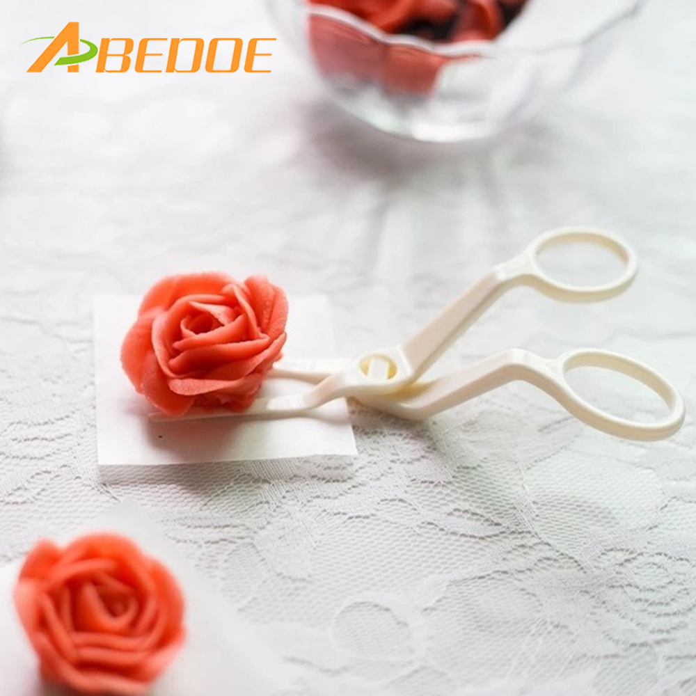 1Set Piping Flower Scissors+Nail Icing Bake Cake Decorating Cupcake Pastry Tool