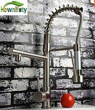 Venta directa de la fábrica! Grifo de la cocina Con agua Caliente y Fría Switch Vessle Grifo Dual Pulverizador Grifo De La Cocina Tira Hacia Abajo Del Grifo