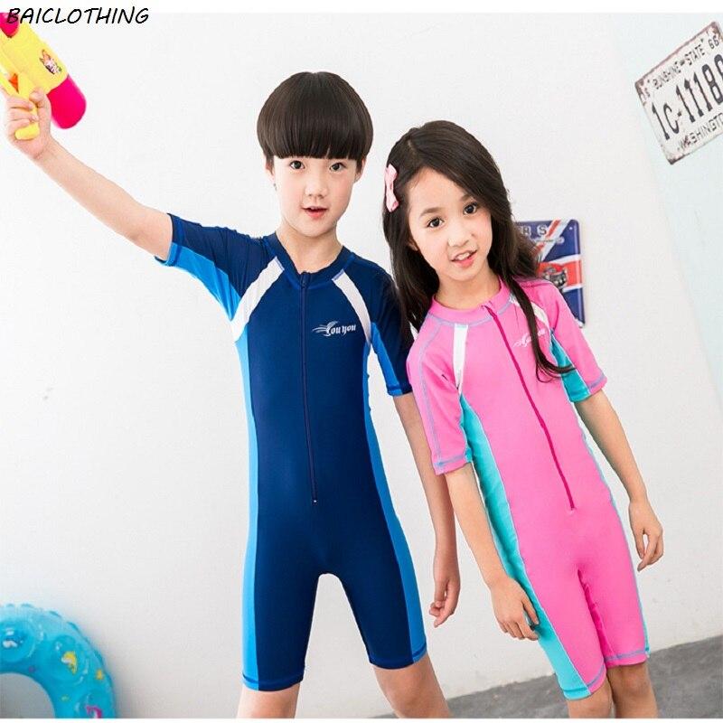 755c7ead3c Online Shop IASKY Child One Piece Swimwear Boys Girls Swimsuits Kids  Bathing Suits Swimsuit Children Beach Wear Diving Swimming Suit