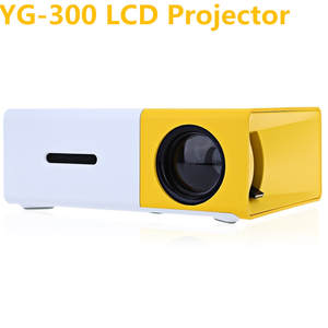 ACCEWIT YG300 HD 1080 P Mini 400-600 LM YG-300 LCD Projector For Video Media