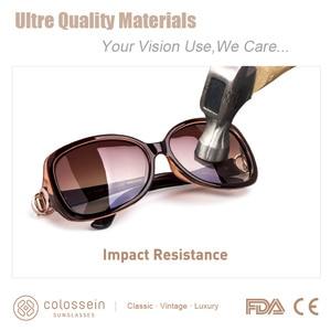 Image 4 - COLOSSEIN MSTAR Sunglasses Women Polarized luxury Round Metal Hinge Sun Glasses Gradual Light Soft Classic Eyewear UV400