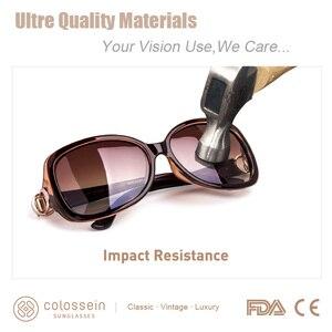Image 4 - COLOSSEIN MSTAR 선글라스 여성 편광 된 럭셔리 라운드 금속 경첩 태양 안경 점진적 빛 소프트 클래식 안경 UV400