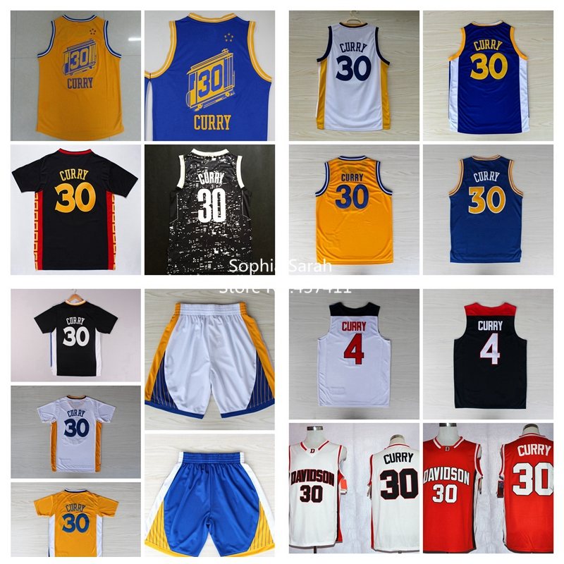 Stephen Curry Jersey The City 30 Steph Curry Yellow Blue