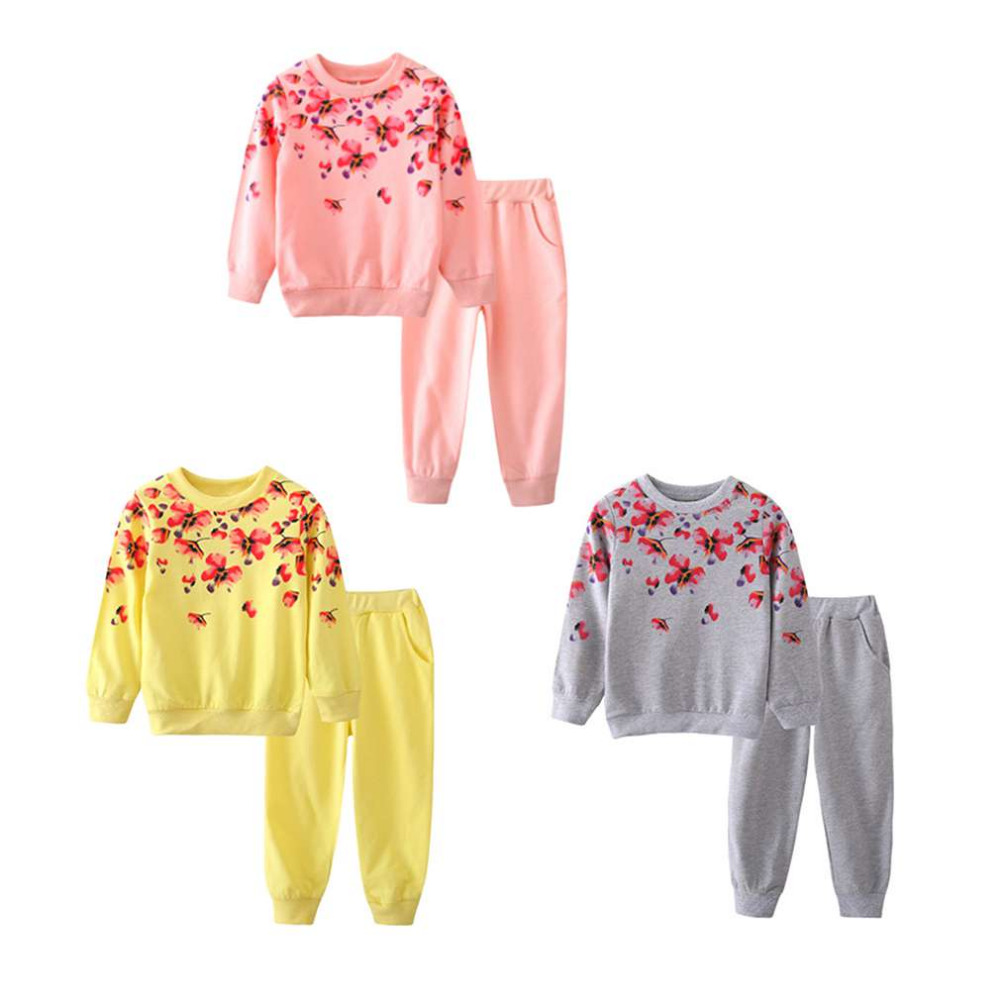 New Fashion 3 Colors Spring Autumn Girls Clothing Set Floral Kids Suit Set Casual Two-Piece Sport Suit For Girl Tracksuit Childr маска сварщика quattro elementi omega 649 639