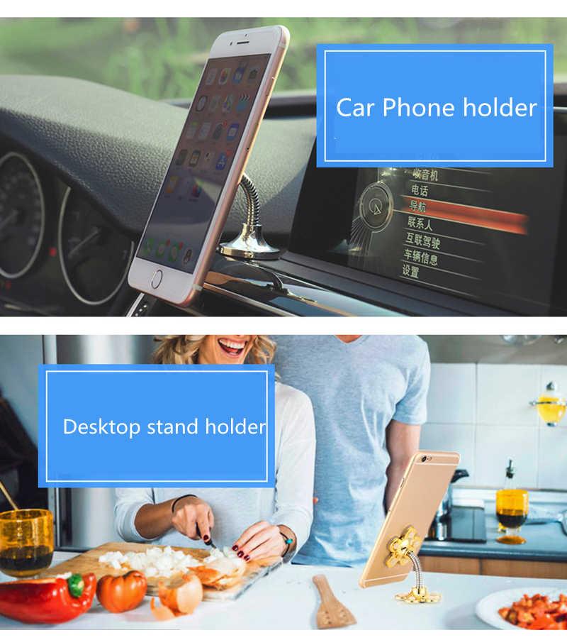 ماجيك شفط الكؤوس دعم سيارة شنت المحمول متعددة الوظائف الوجهين مصاصة الملاحة سطح المكتب ل حامل هاتف آيفون 7