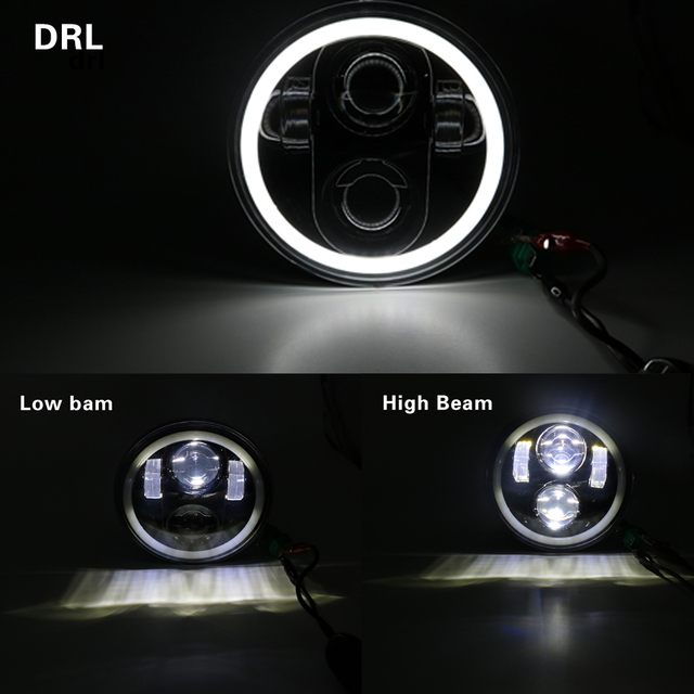 5.75 inch Motor LED Headlights Full Halo Lights Kit For Harley Night Rod Iron 883 Dyna Sportster 1200 Indian Scout Triumph
