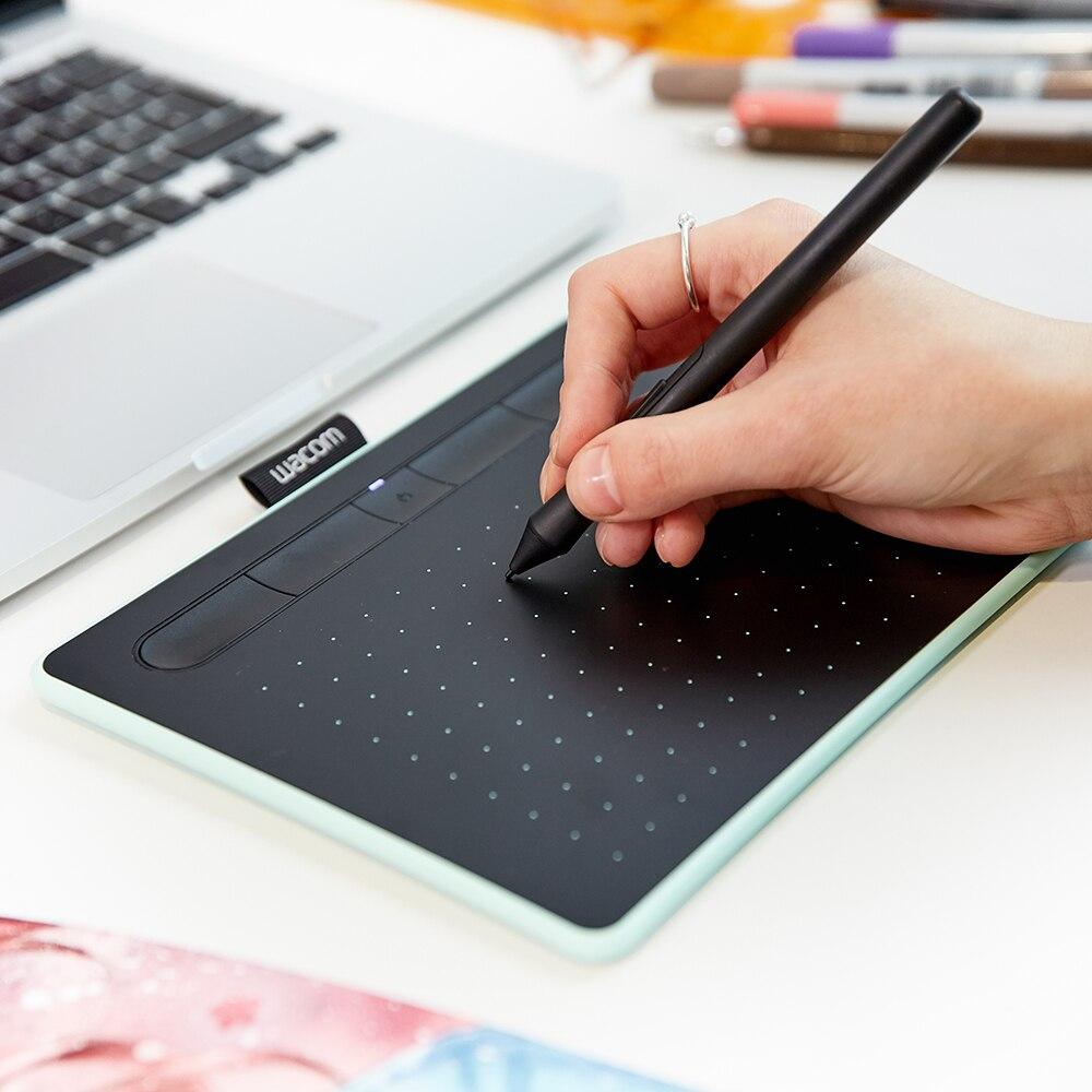 Tablette de dessin graphique sans fil Wacom Intuos CTL-4100WL avec 3 logiciels Bonus inclus 4096 niveaux de pression - 6
