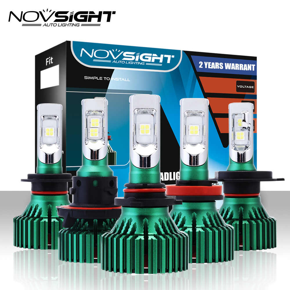 NOVSIGHT H4 LED H7 H11 Car Led Headlights 60W 16000LM H8 H9 9005 9006 Driving Fog Light Bulbs Play and Pluy Fog Lamps 6500K