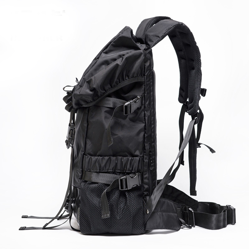 d3c473445ce5fc In Cipher double shoulder backpack new solid color outdoor drawstring men  and female travel sports climbing hiking backpack Tags