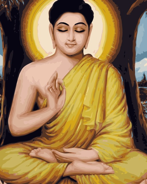 j010 lord buddha portrait painting coloring by numbers digital