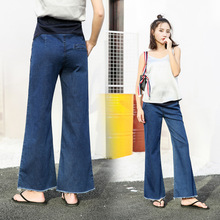 Pregnancy wear trousers pregnant woman pants spring and autumn fashion cotton maternity jeans loose care for the abdomen