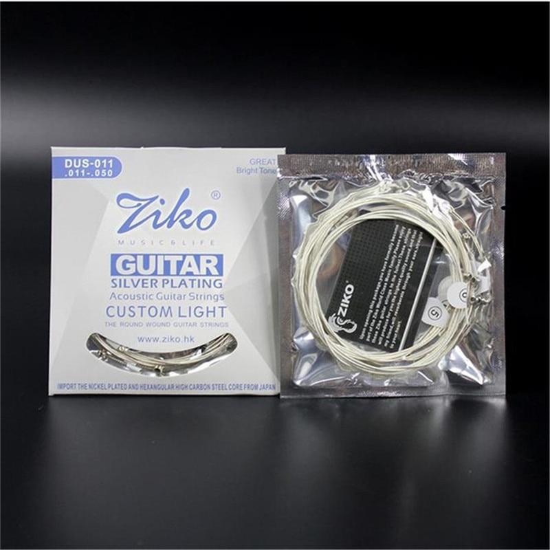 5 set/lote 011-050 DUS-011 ZIKO cuerdas de guitarra Acústica guitar parts Acceso