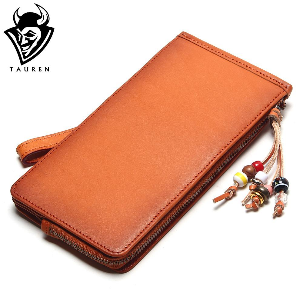 Tauren Handmade Vintage Wallet Mens Retro Purse Retro Bags Italian Vegetable Tanned Leather Brush Color Retro Wallets Pure Color hong kong olg yat handmade carving wallet eagle mat men s brief paragraph vertical purse italian pure leather short wallets