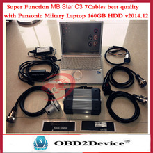 2016 mb star diagnosis tool mb star c3 multiplexer with strong cables +V2016.5 star c3 software and Panasonic Laptop CF-T8