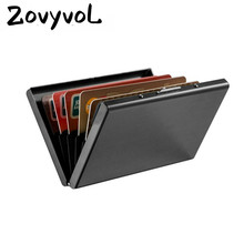 ZOVYVOL 2019 New Credit Card Holders Black Wallets Fashion ID for Men and Women Business High Quality Creative Purses