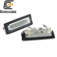 Eonstime 2Pcs 18SMD LED License Plate Number Light Lamp Error Free For Benz Smart Fortwo Coupe Convertible 450 451 W450 W453