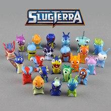 16 24pcs set Cute Cartoon Slugterra PVC Action Figure font b Toys b font Dolls Block