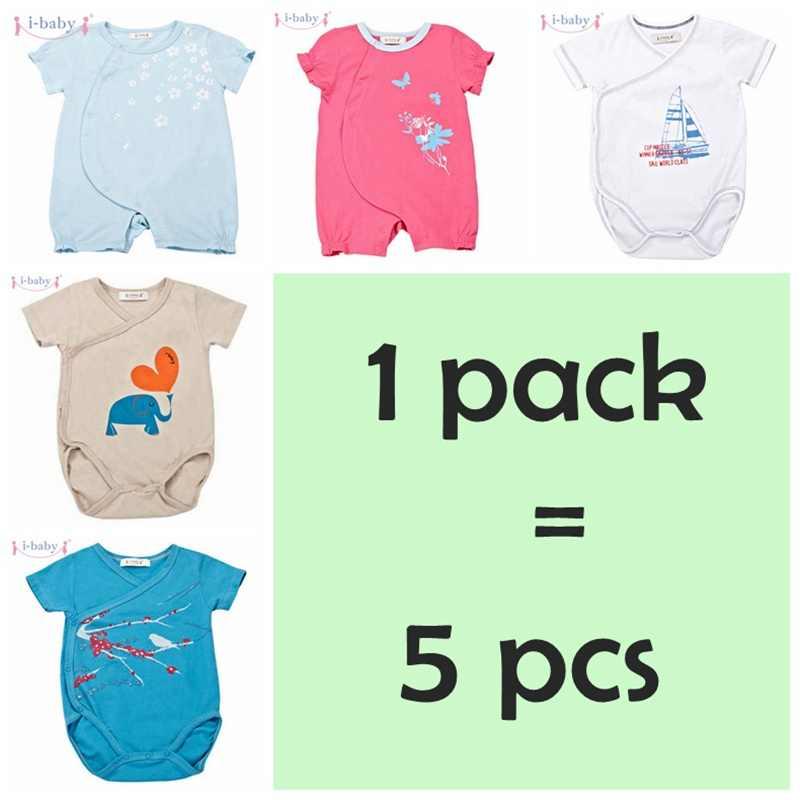 I-baby 1-6 cái/bộ Bông Bé Rompers Trẻ Sơ Sinh Áo Liền Quần Sơ Sinh Chàng Trai Cô Gái Roupas de bebe Bé Quần Áo