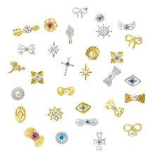 5PCS 2018 New Rhinestones Mix 3D Nail Art Decoration High Quality Nail Gem Pearl Nail Jewelry