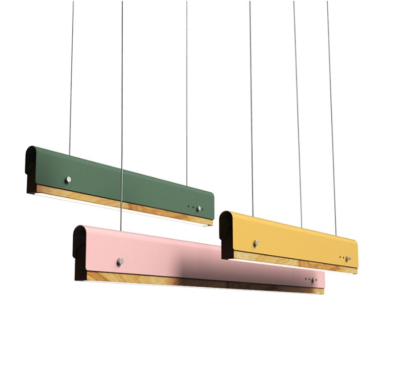 Suspended Linear Lights / 1.2m(47) Length Wood LED / Colorful Metal Sandwich Wrap Decor Suspended Linear Lights / 1.2m(47) Length Wood LED / Colorful Metal Sandwich Wrap Decor