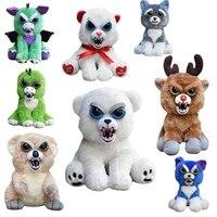 Feisty Pets Change Face Plush Bear Monkey Unicorn Dog Stuffed Animals Plush Toys Doll For Kids