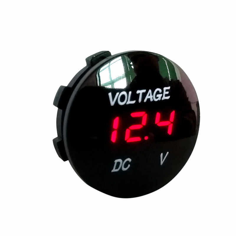 Universal DC 12V-24V Red LED Digital Display Voltmeter Waterproof Voltage Meter Car Motorcycle Boat ATV Truck Refit Accessories