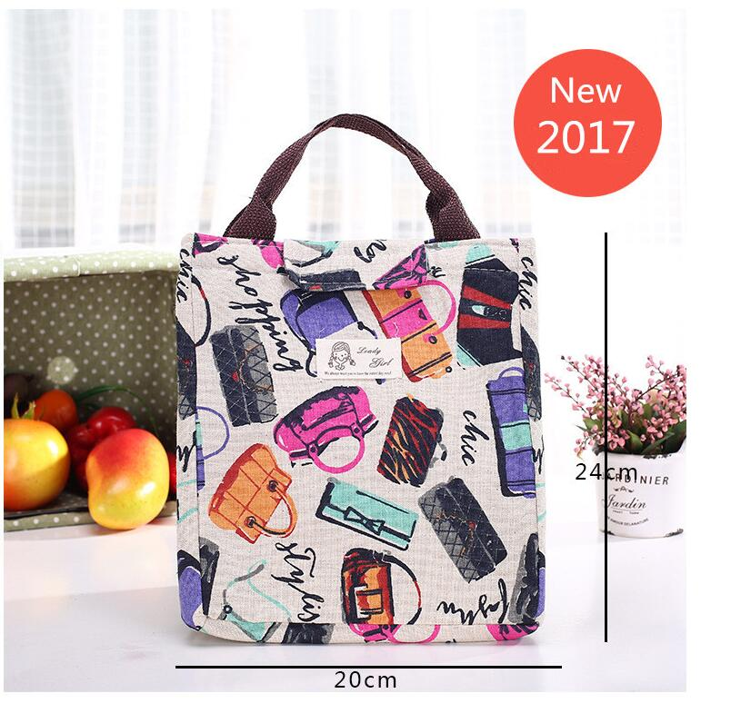 Fashion  Portable Canvas insulated lunch bag Bag Women Lunchbox Storage Bag Thermal Food Picnic Lunch Pouch for kids Cooler sannen 7l double decker cooler lunch bags insulated solid thermal lunchbox food picnic bag cooler tote handbags for men women