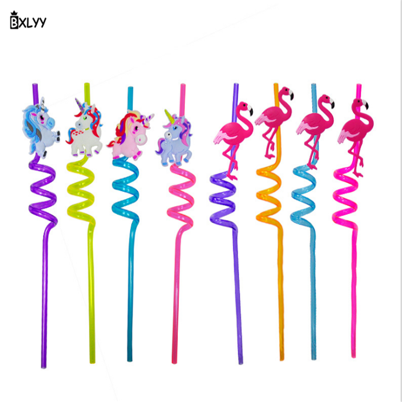 BXLYY Party-Decorations Art-Straw Hot Flamingo PVC Modeling Unicorn Animal Wedding-Gifts.8z