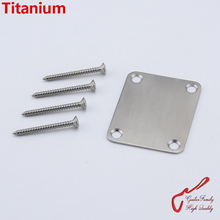 1Set GuitarFamily Electric Guitar Electric Bass Titanium Neck  Plate / Neck Joint Plate With Titanium Screws  MADE IN KOREA