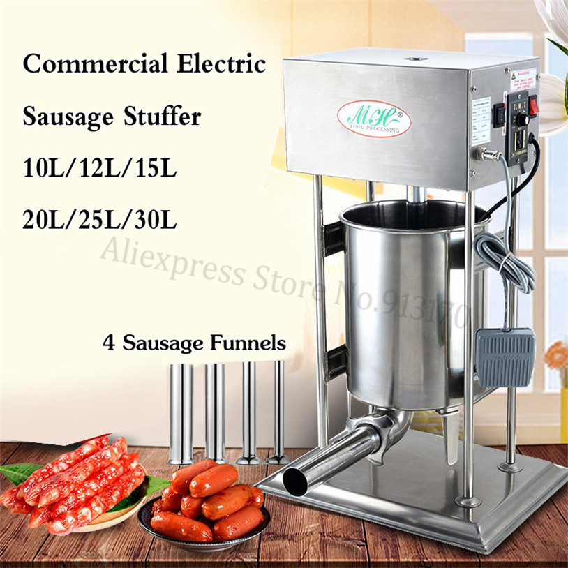 Automatic Electric Churro Making Machine 10L Spain Churros Extruder Sausage Stuffer Filler Salami Maker